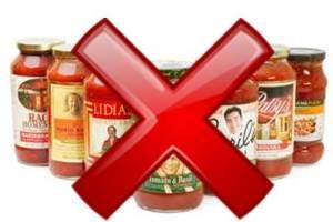 jar sauce with x